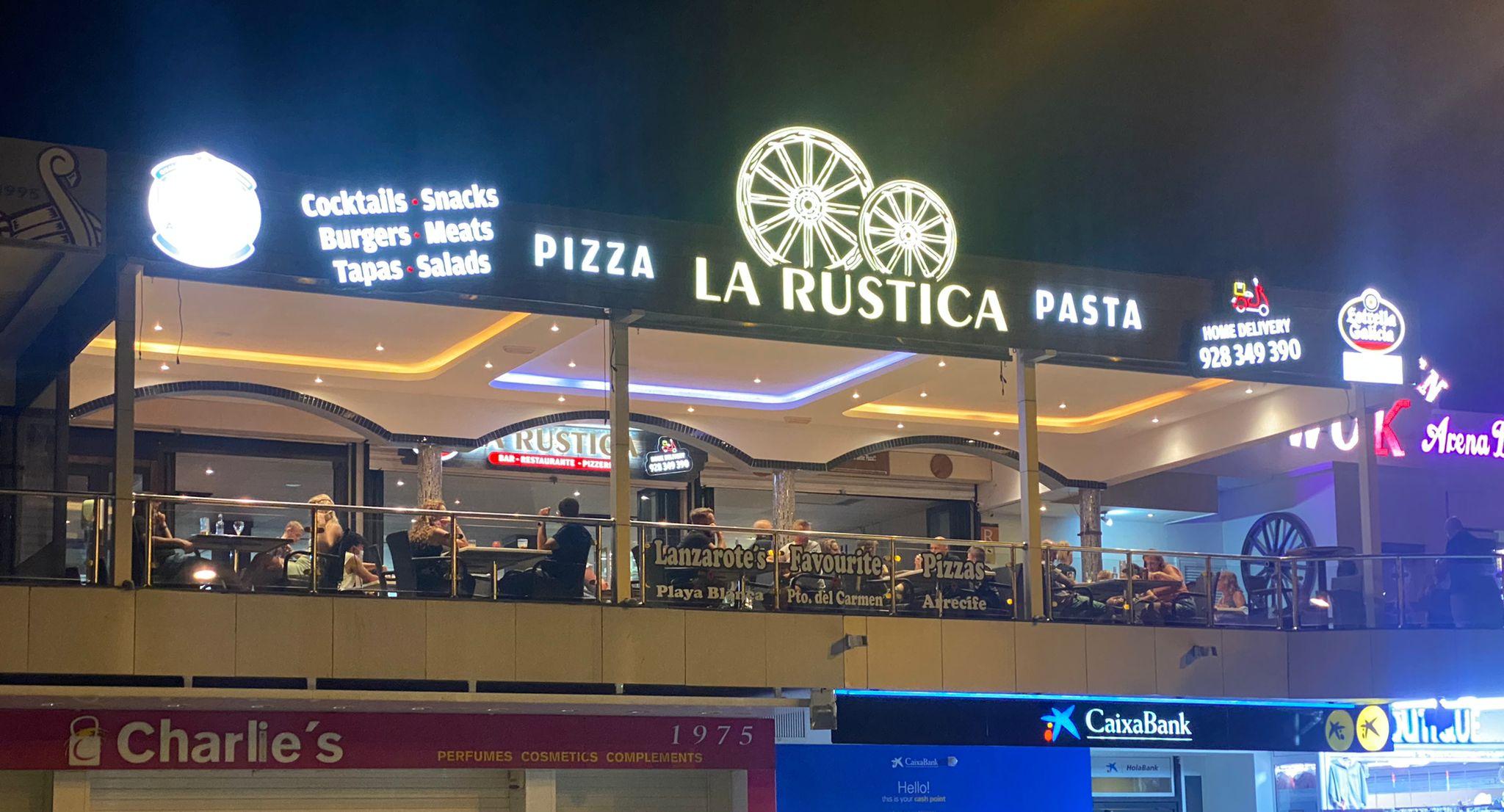 la rustica pizza and pasta puerto del carmen